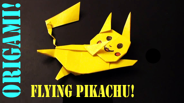 Flying Pikachu Origami Tutorial!