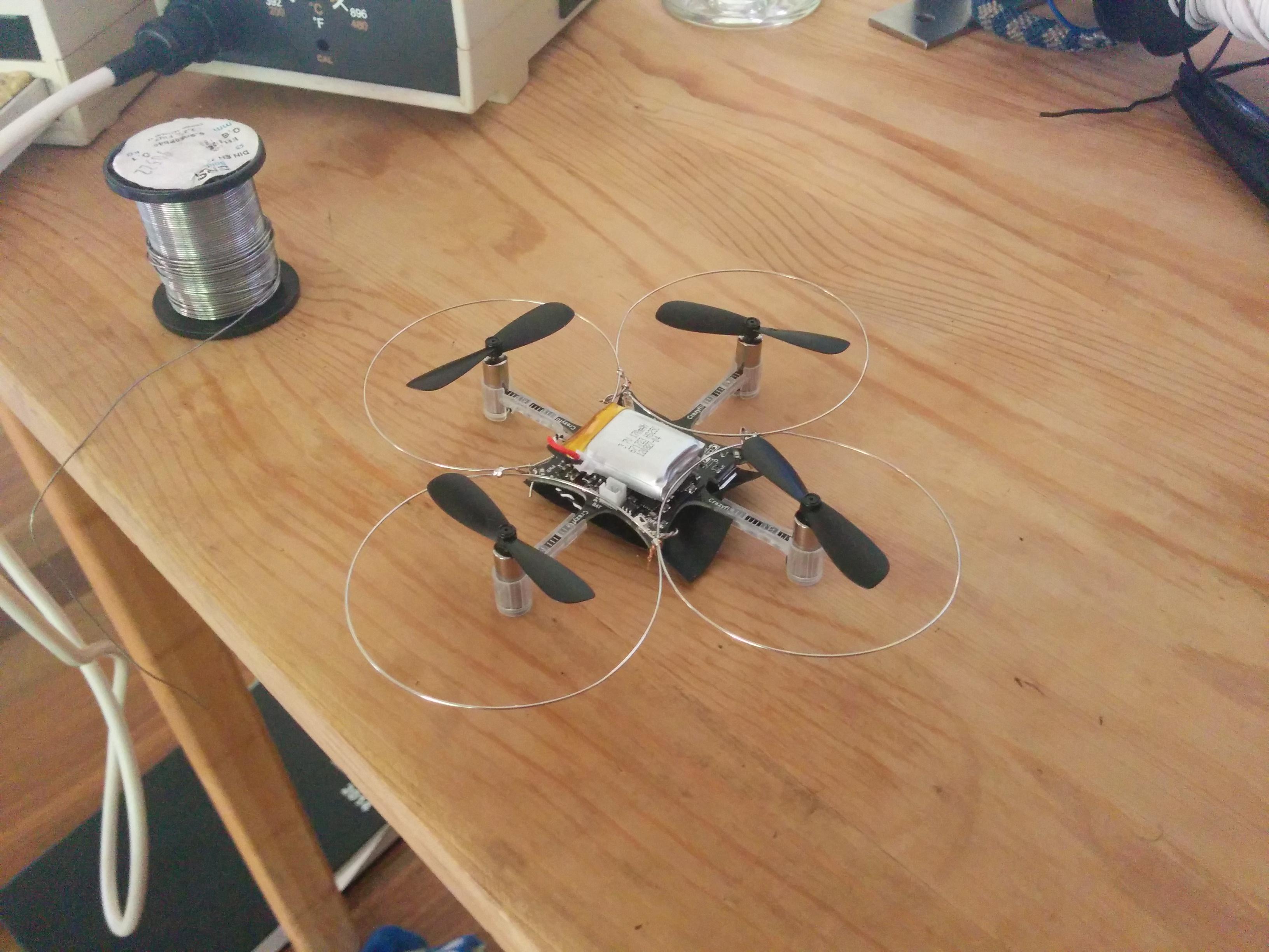 crazyflie nano quadcopter training wheels