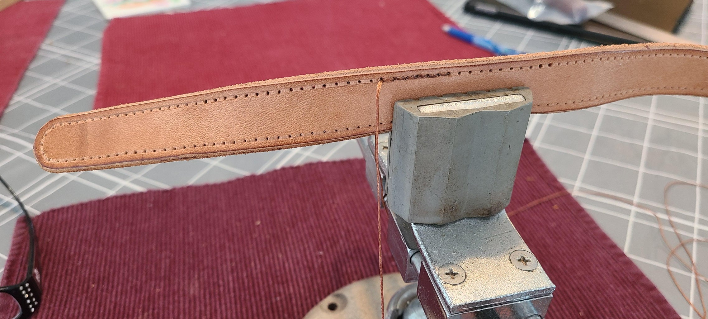 Making the Leather Strap