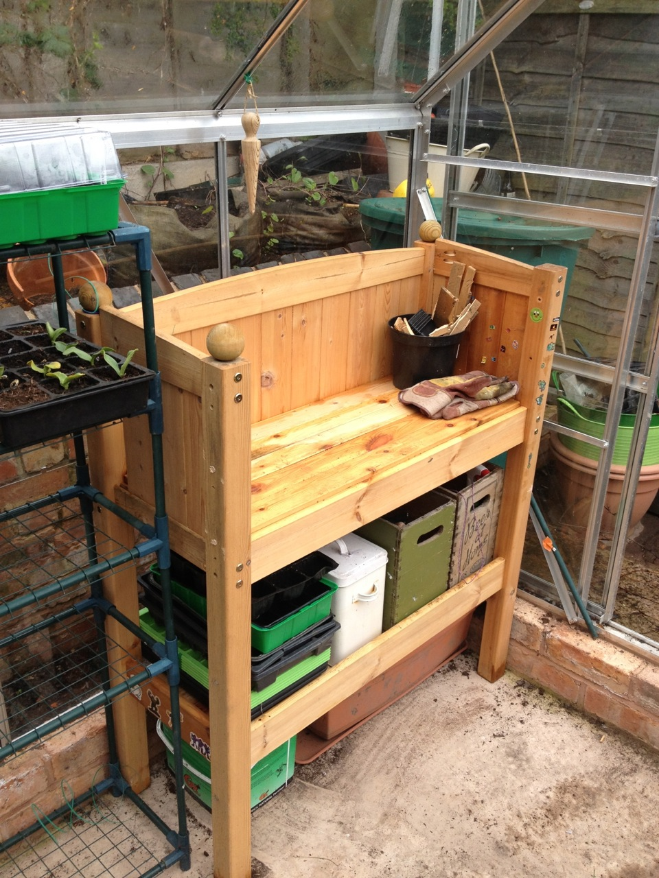Recycling Cabin Bed into a Potting Bench