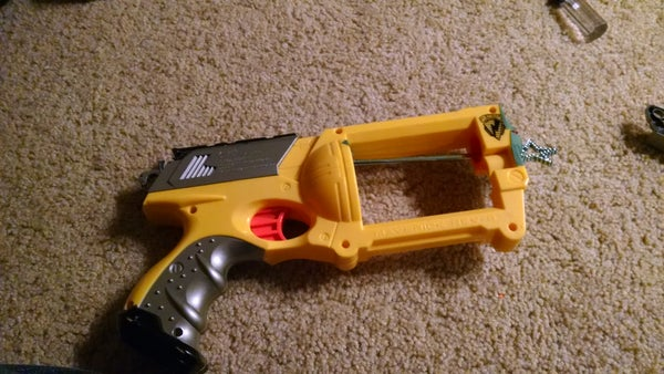 Make a Wand Launcher Out of a Nerf Maverick Rev-6