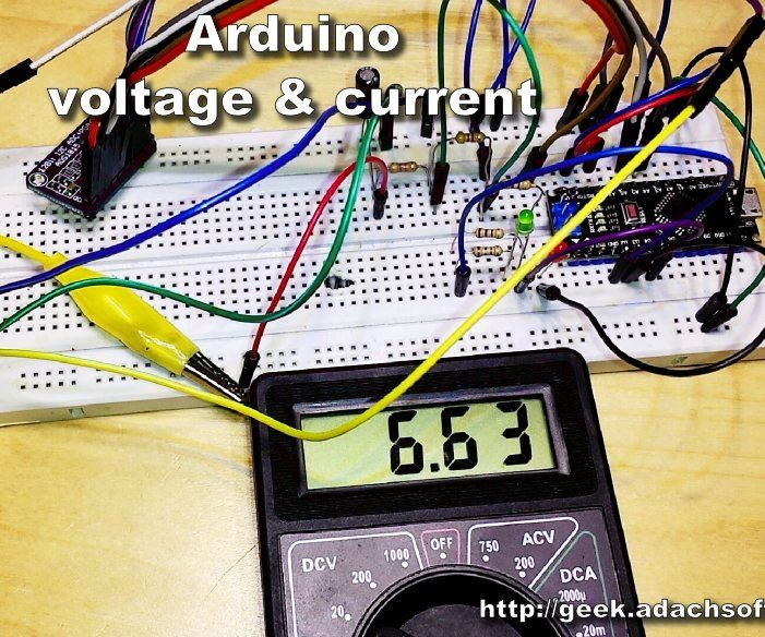 Arduino - Voltage and Current Measurement ACS712, ADS1015