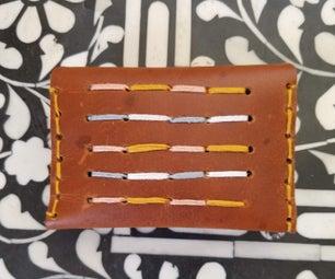 刺绣皮革钱包