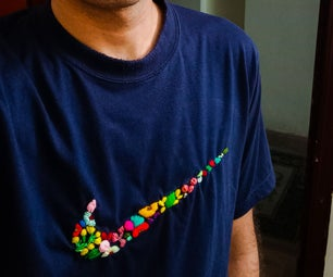 CUSTOMIZED T-SHIRT: SIMPLE YARN EMBROIDERY