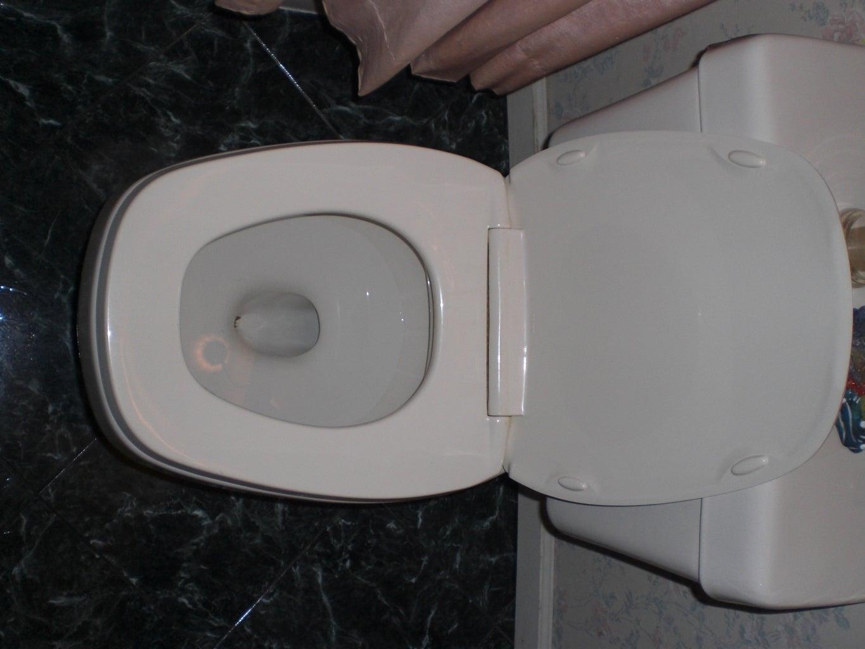 Plastic Wrap Over Toilet