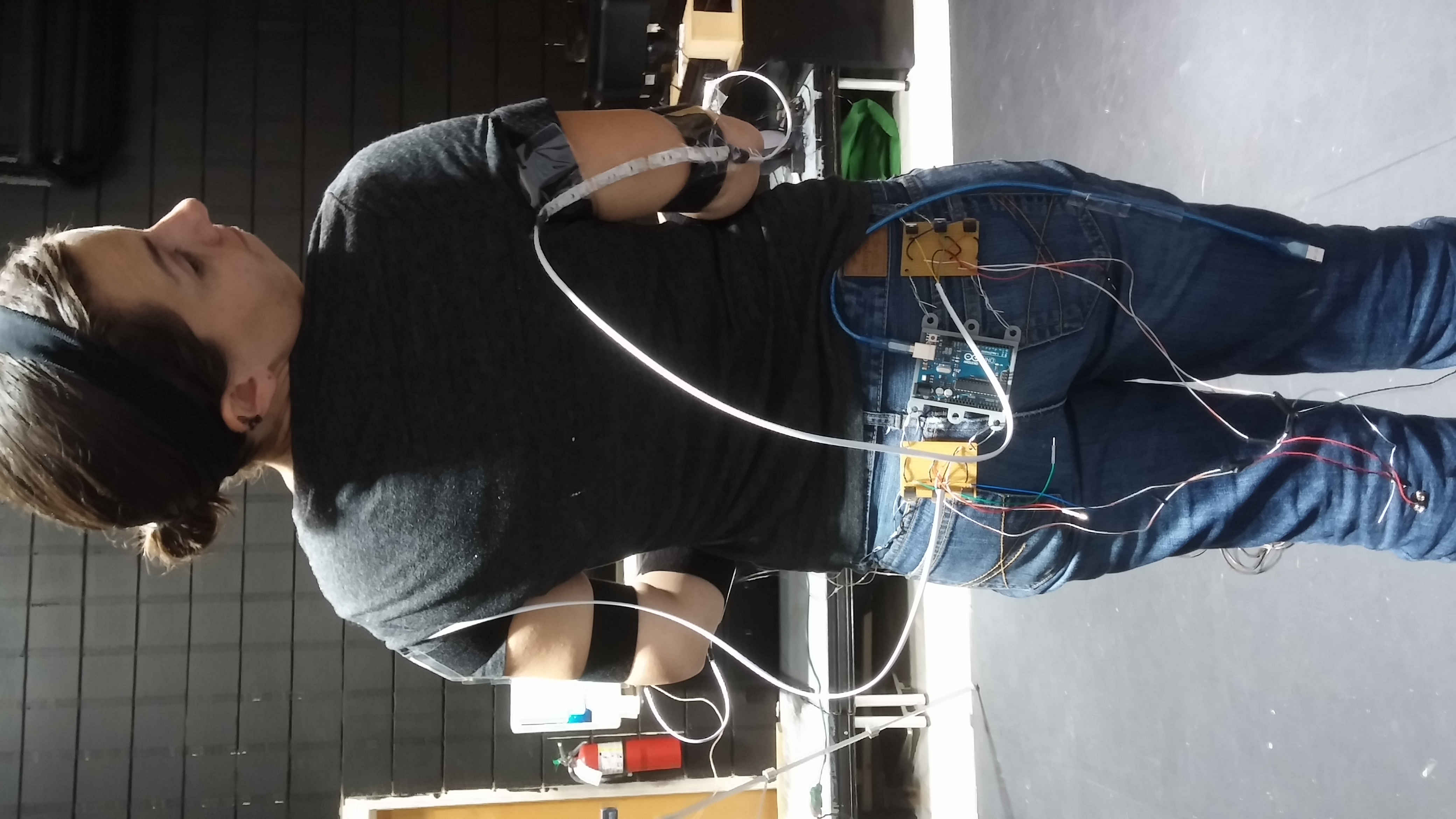 Motion controlled RGB Led Suit Using Xbox 360 Kinect, Max MSP and Arduino Part 1