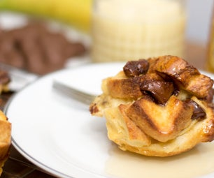 Chocolate Banana French Toast Muffin | Cooking With Benji