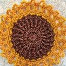 Easy to Make Crochet Sunflower Mini Doily