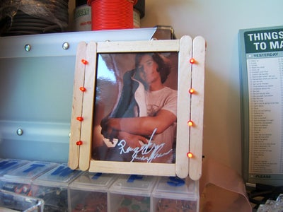 LED Popsicle Stick Picture Frame