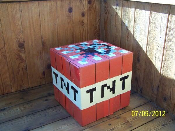 Cardboard Minecraft TNT