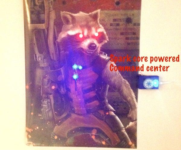 Rocket's Command Center -using Spark Core