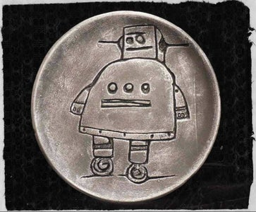 Vinegar Etching (The Instructables Robot in Clay)