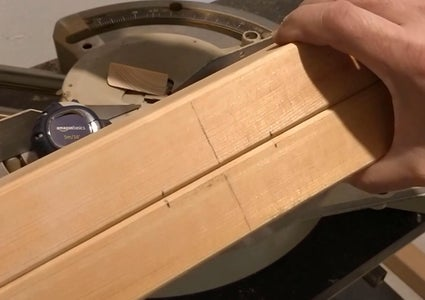 Woodworking - Crane's Tower Base - Joint Cut