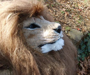 Realistic, Animatronic Lion Mask With Stereo Night Vision and Amplified Hearing