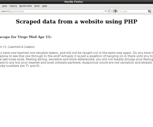 Beginning Web Page Scraping With Php.