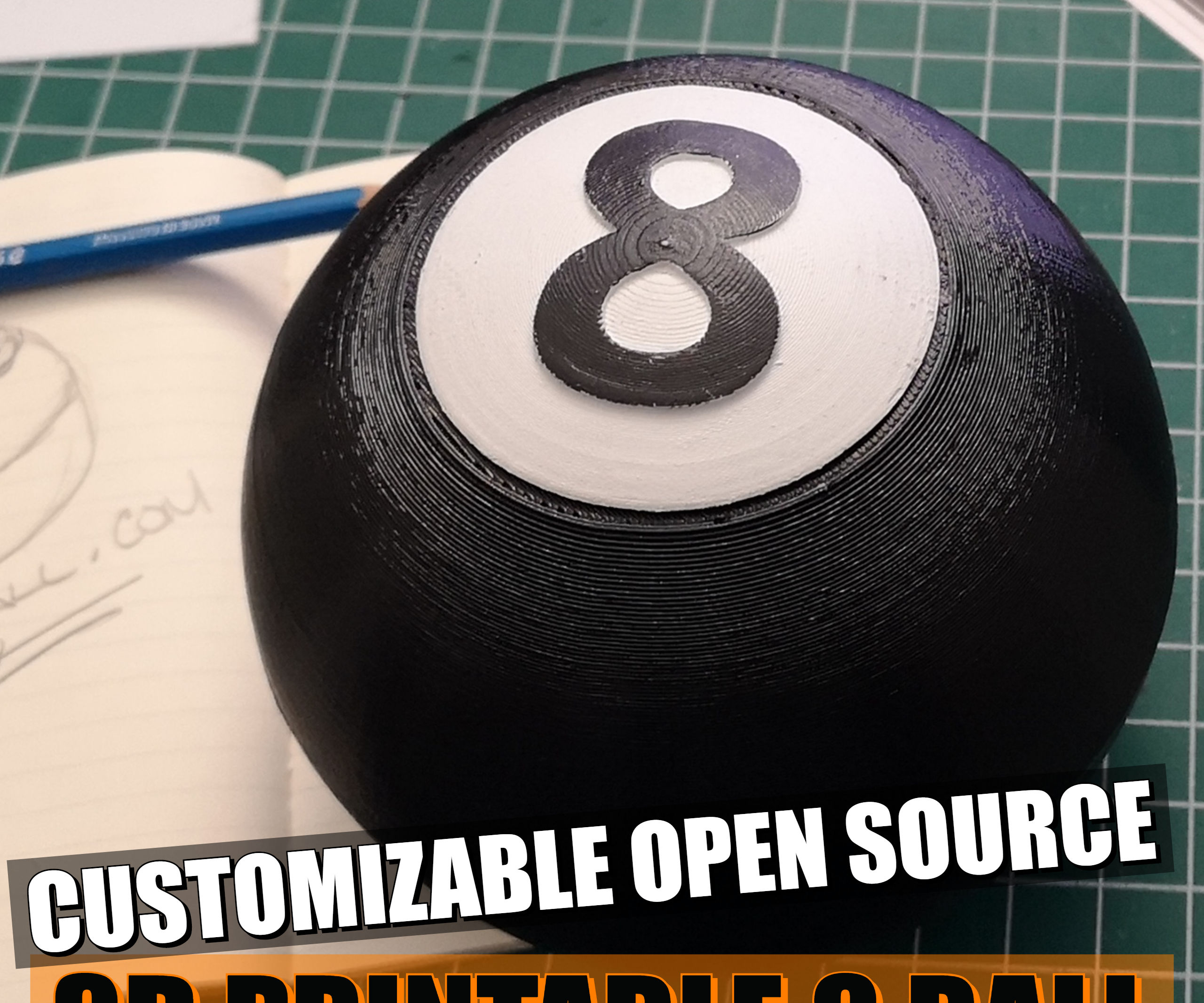 Magic 8 Ball, Open Source, Customizable, Fun and Easy to Build