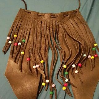 Leather Fringe Necklace