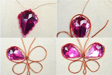 Attach Four Beads in the Butterfly