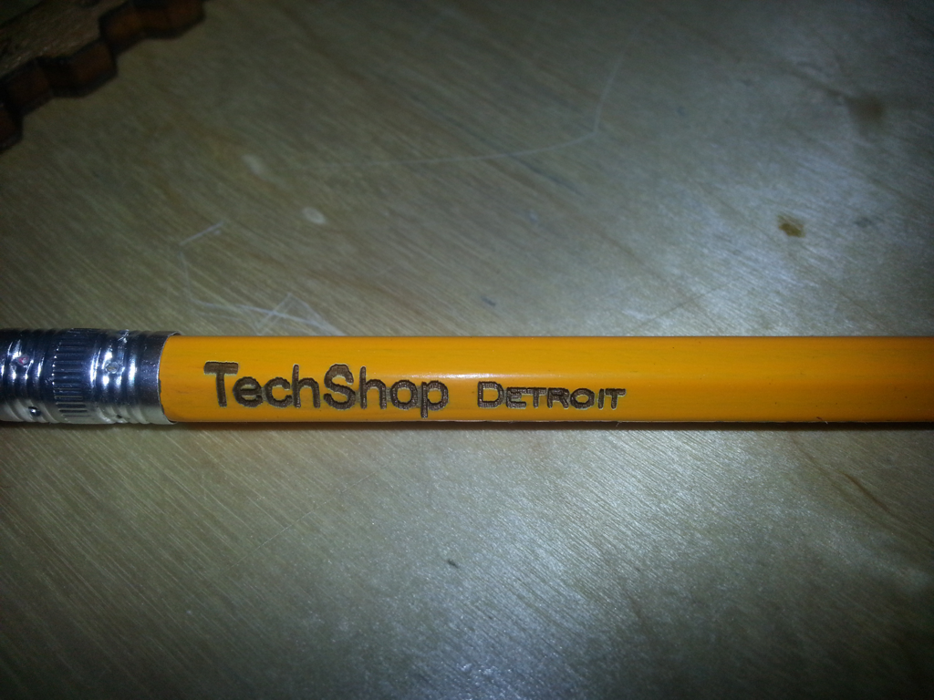 Engraving Text on Pencils