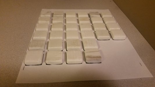 Separate Tiles Glue to Design Printout