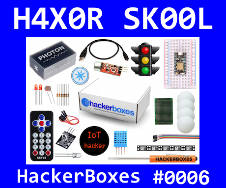 HackerBoxes 0006: Internet of Things (IoT) Projects Featuring the Particle Photon