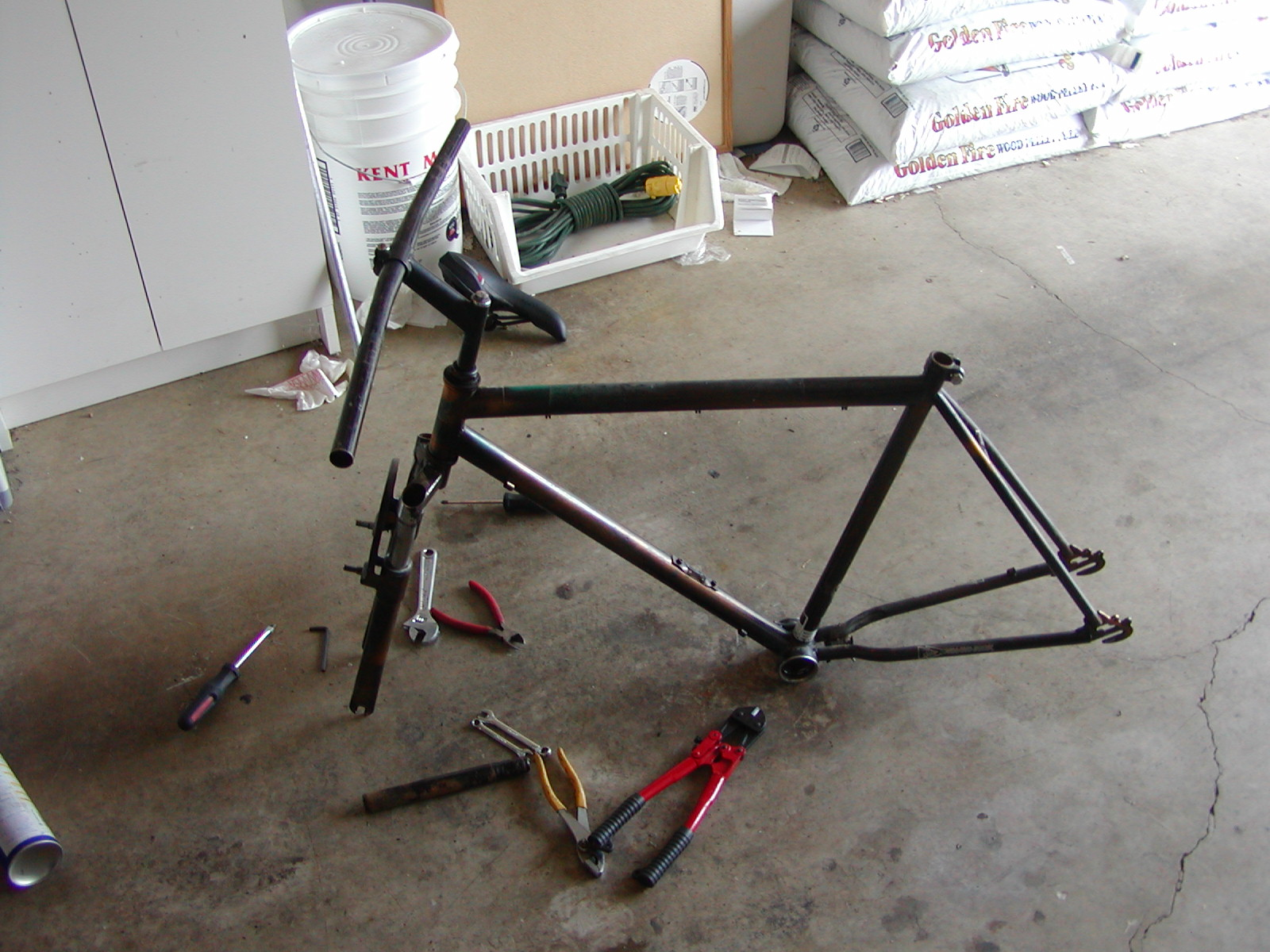 Repainting a bicycle