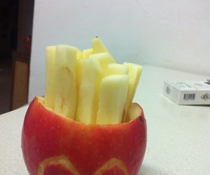Healthy Apple French Fries - McDonald's Style