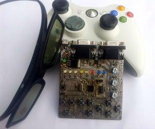 Alternately Occluding Dichoptic  Modifier of Stereoscopic Transmission 32 [STM32F103C8T6+STMAV340 VGA Superimposer]