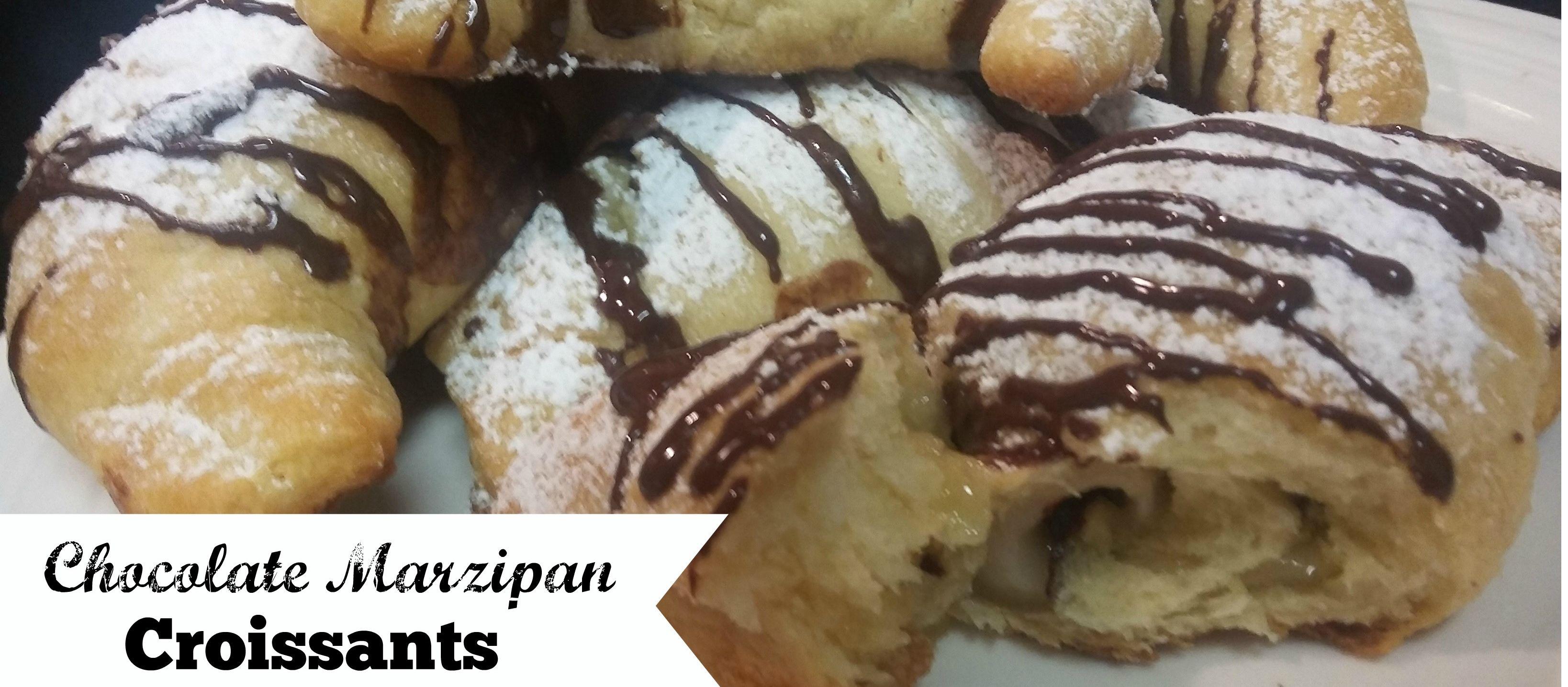 Chocolate Marzipan Croissants