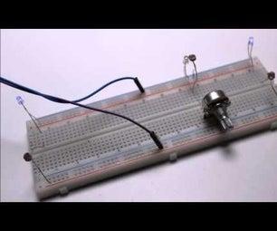 Tag Nacht Sonnen Sensor Aus Potentiometer LDR LED Ohne Microprozessor
