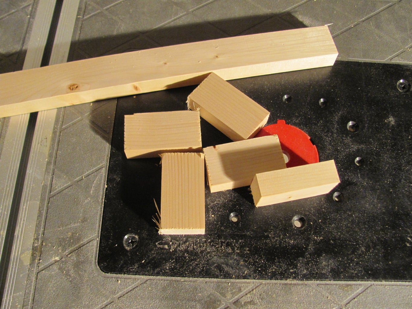 Cutting the Spacer Block