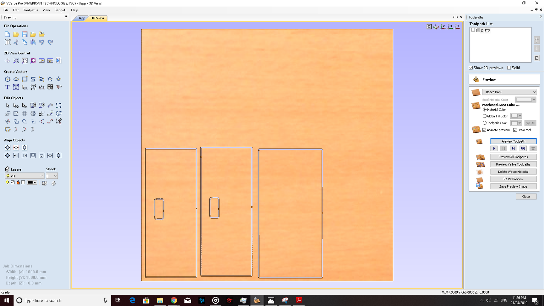Creating the Design of the Food Tray (using VCarve)