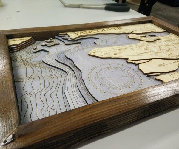 Make Laser Cut Bathymetric Maps
