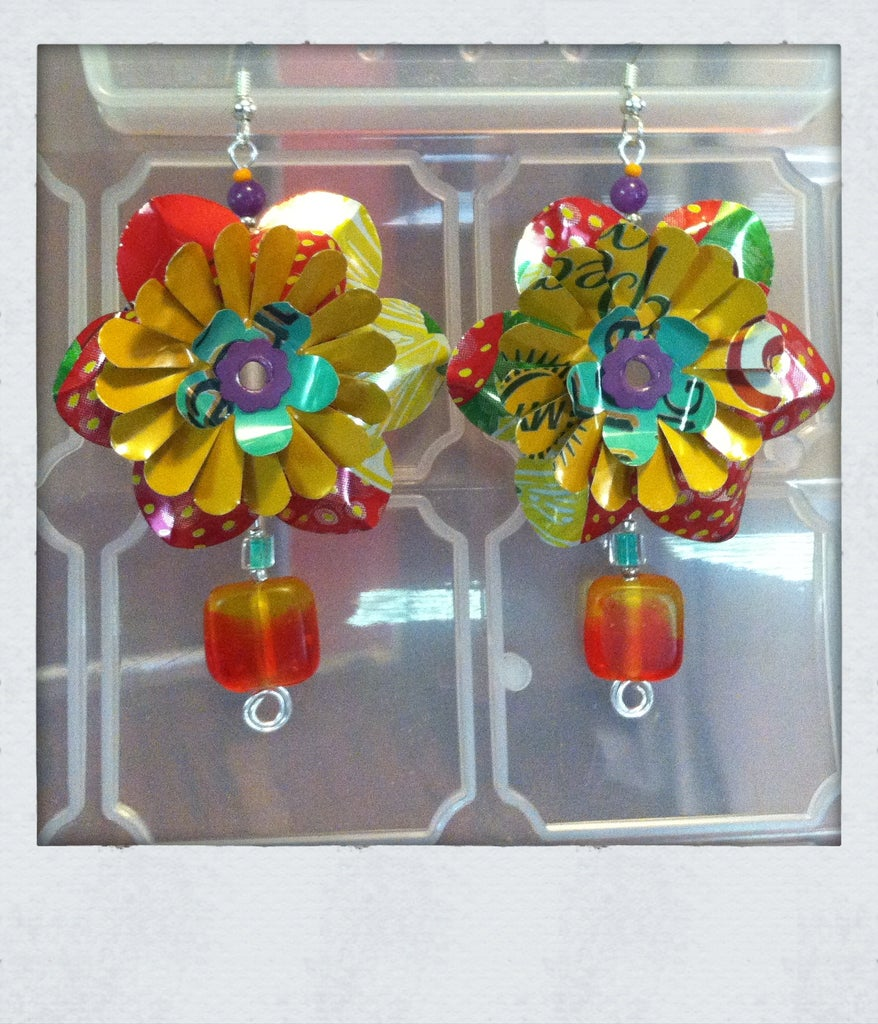 Aluminum Can Flower Jewelry