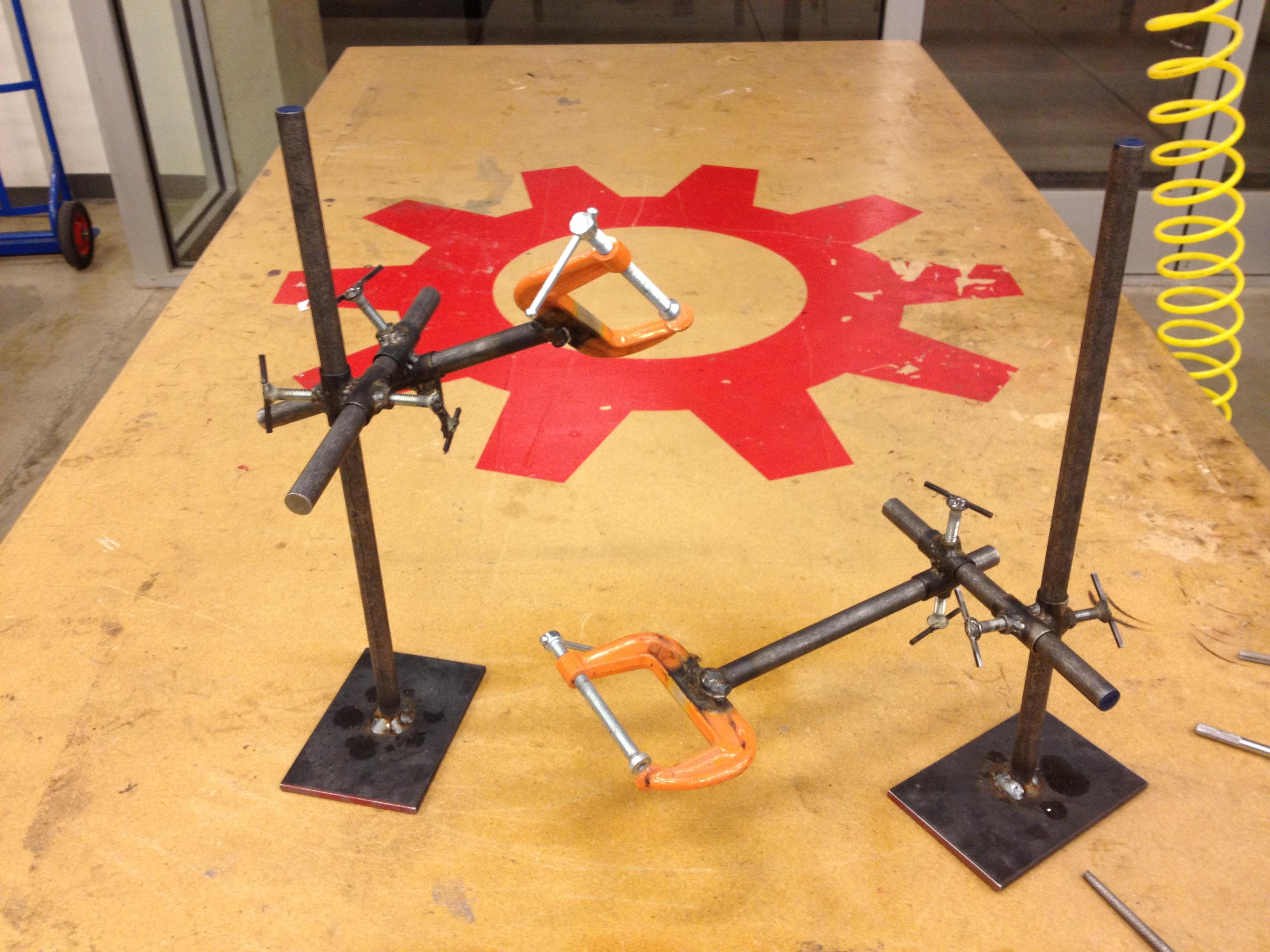 Making a set of Third Hands: welding fixtures!