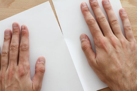 Cut the Sheet of Paper in Two