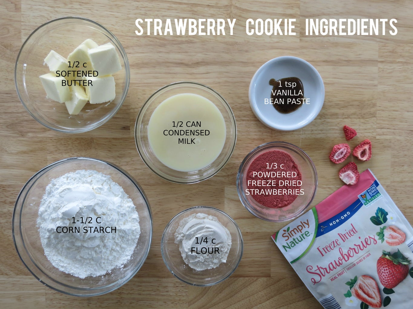 Snappy Strawberry Cookies