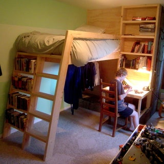 Loft Beds With Bookshelf Ladders 14 Steps With Pictures Instructables