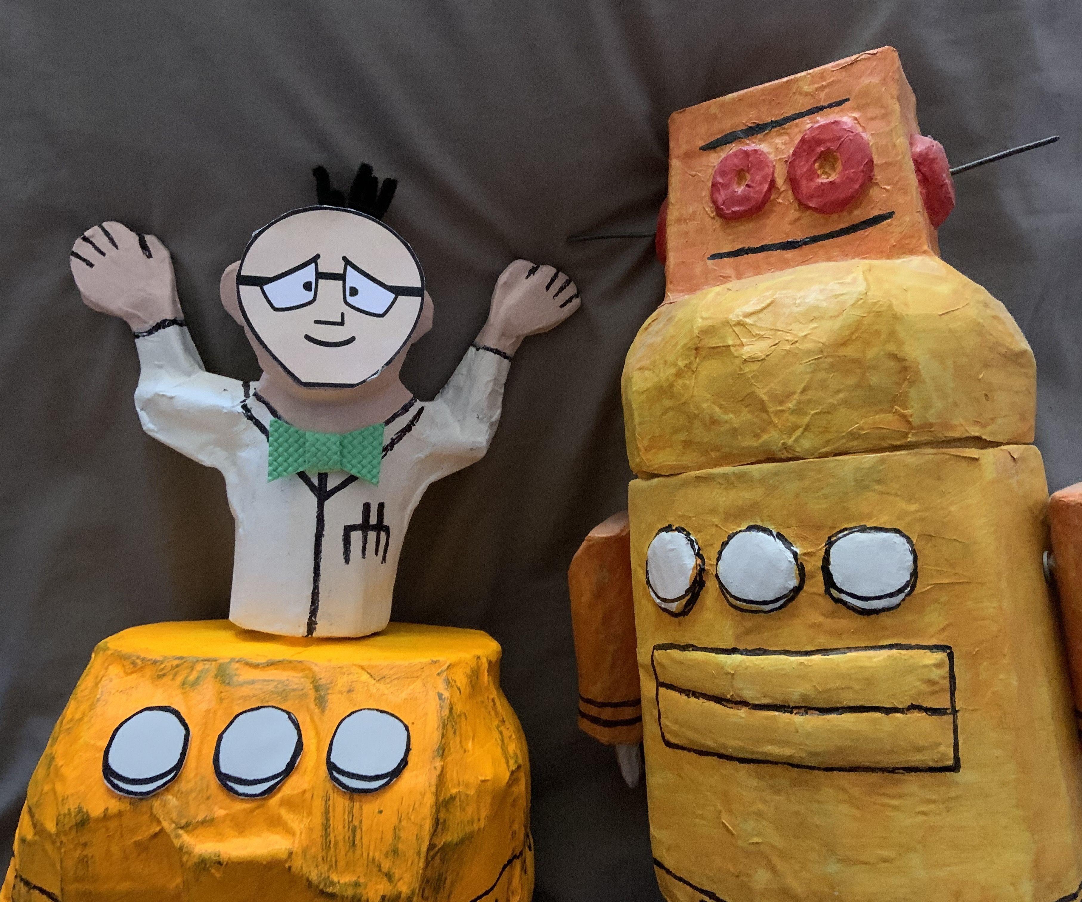 Kiteman and Robot - the Pandemic Pants