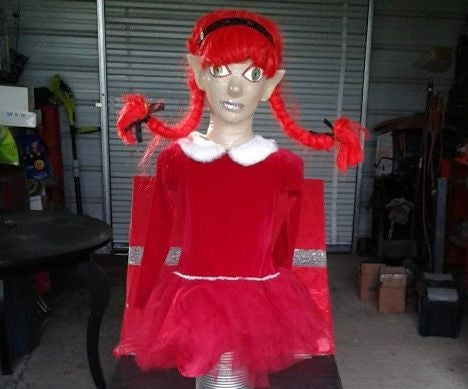 Paper Mache Christmas Elf Jack in the Box