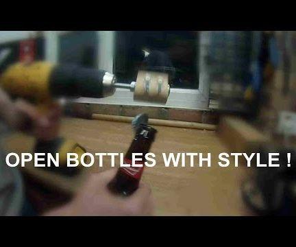 Drill powered Bottle Opener