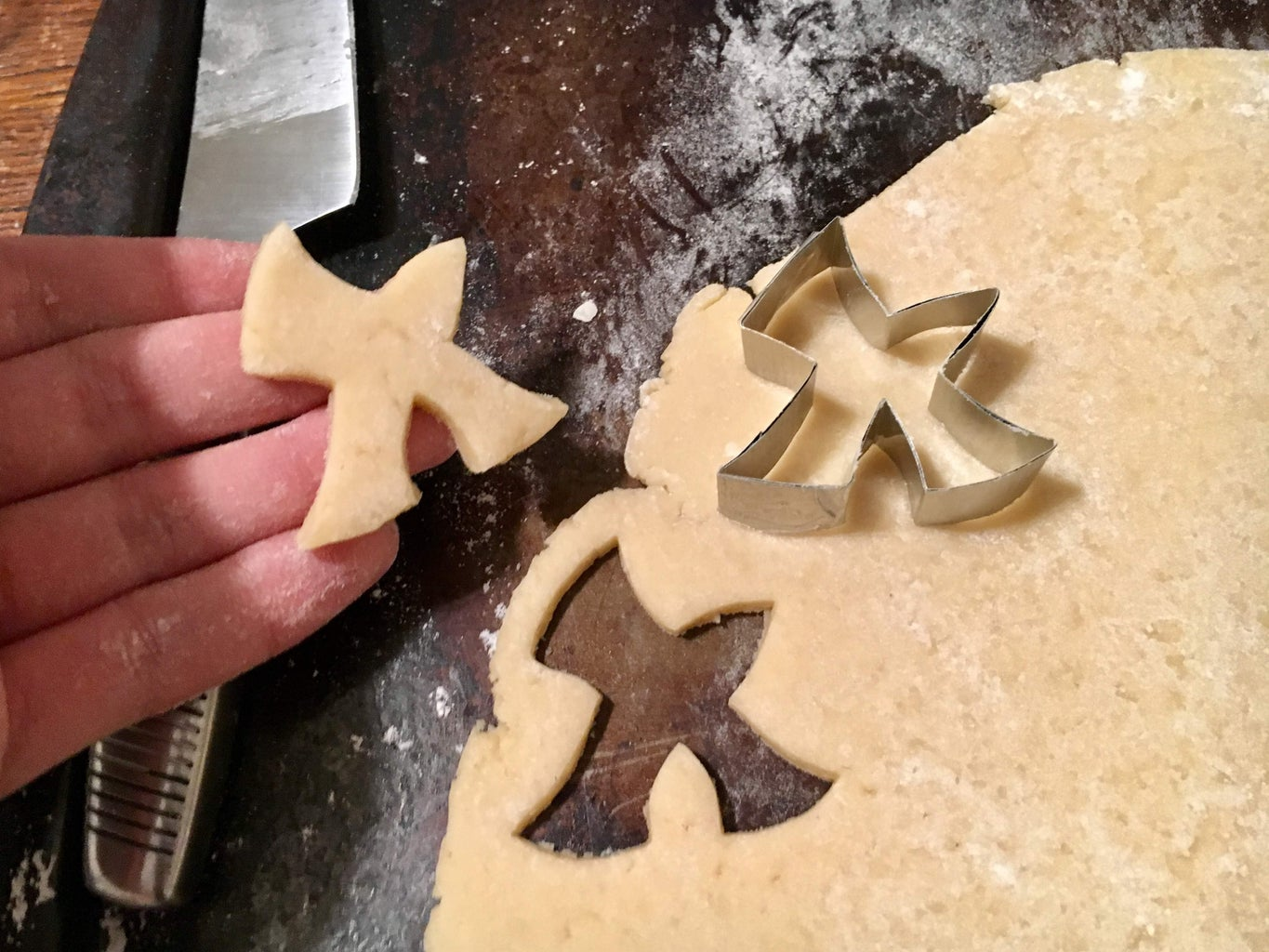 Roll, Cut, and Bake the Cookies