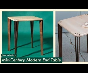 Mid-Century Modern Inspired End Table
