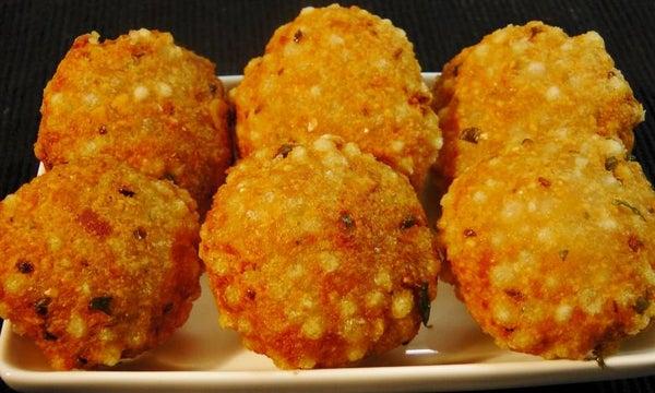 Fried Indian Sabudana Vada (Crispy Sago Patties)
