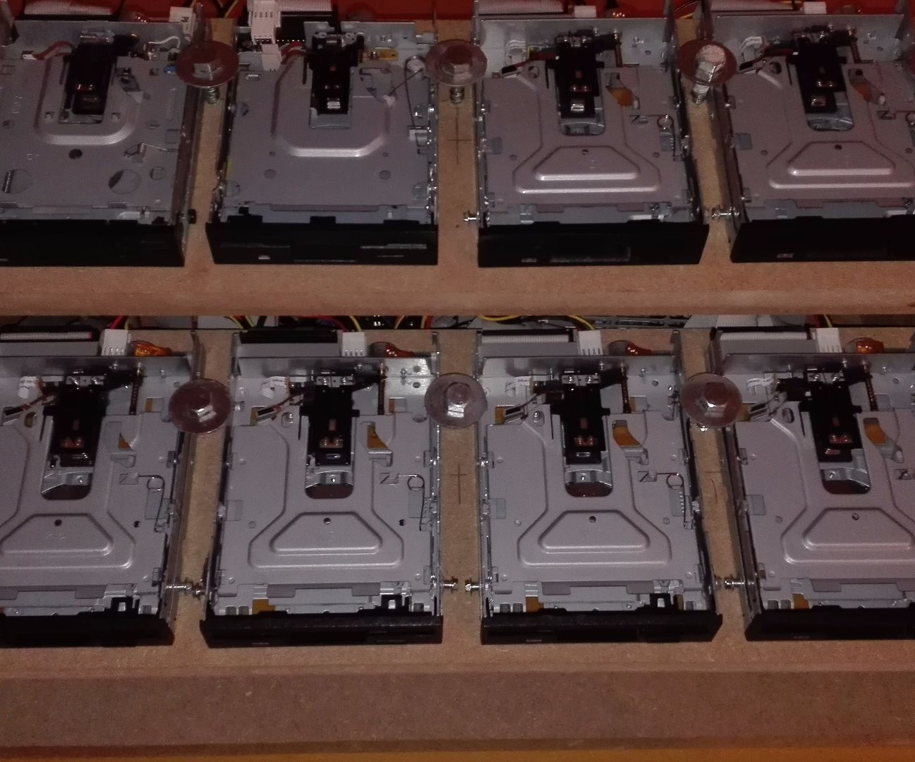 Floppy drive jukebox