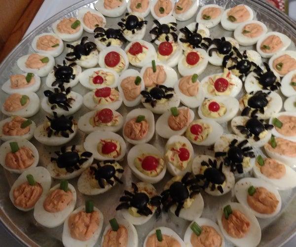 Halloween Deviled Egg Party Platter