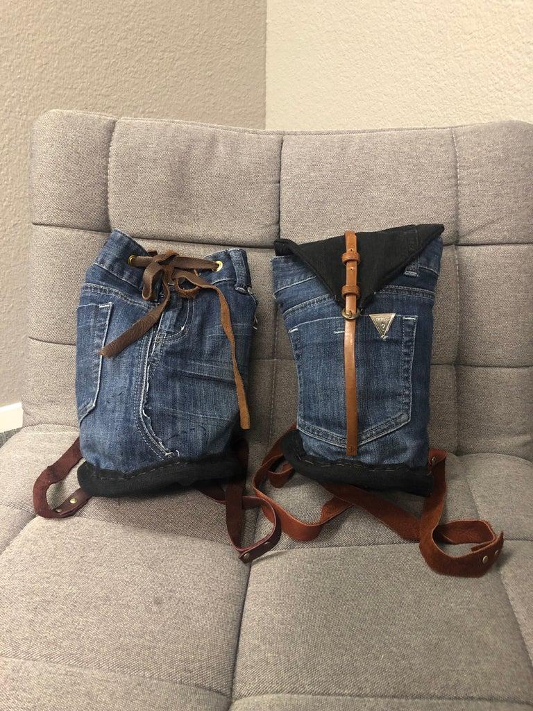 Mini Jean Backpack