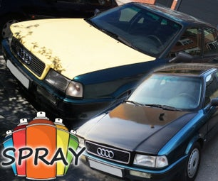 How to Paint a Car With Spray in the Street - 50$ Paint Job