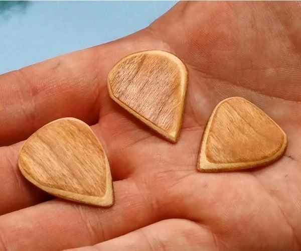 DIY Veneer Guitar Picks