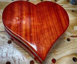 Freedom-Filled Padauk Heart Box
